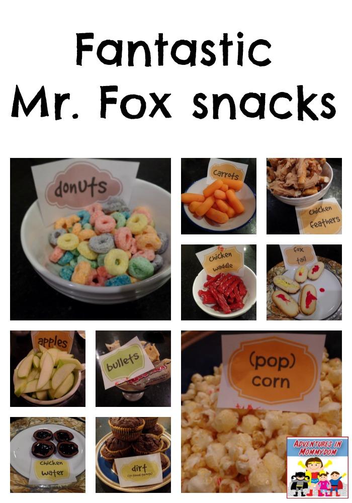 Fantastic Mr. Fox snacks