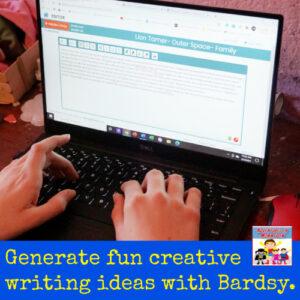 Generate fun creative writing ideas with Bardsy