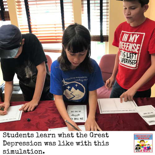 Great Depression dice simulation