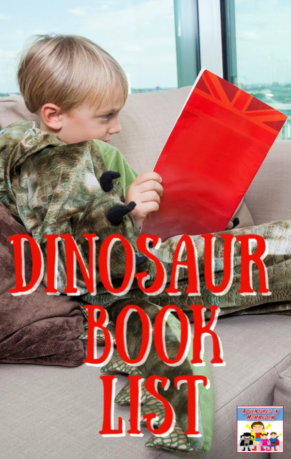 dinosaur booklist for preschool or kindergarten #booklist #prek #kinder #kidlit
