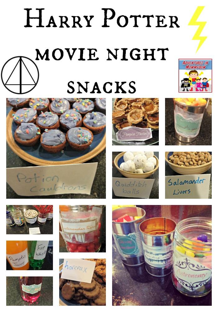 Harry Potter movie night snacks