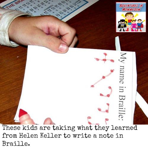 Helen Keller activity