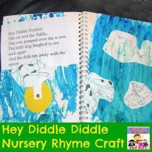Hey Diddle Diddle Nursery Rhyme Craft