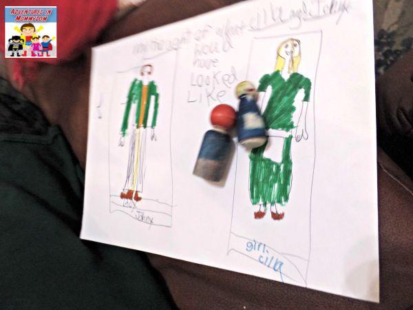 Johnny Tremain projects peg dolls