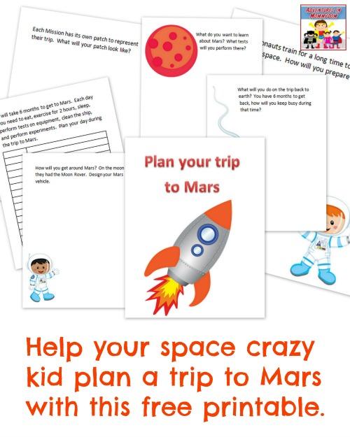 Journey to Mars printable