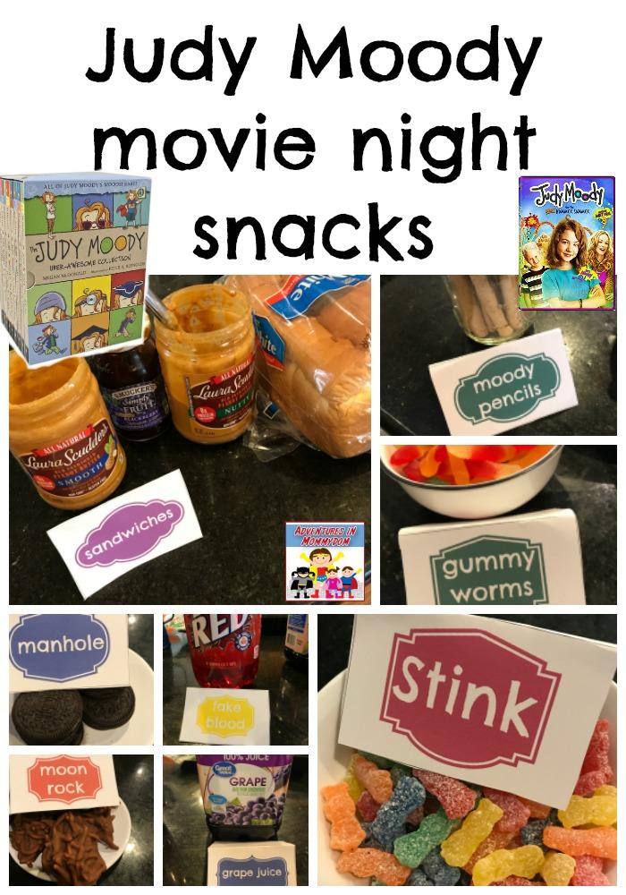 Judy Moody movie night snacks