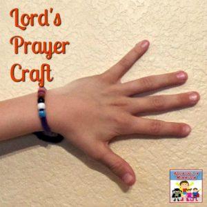 Lord's Prayer bracelet craft
