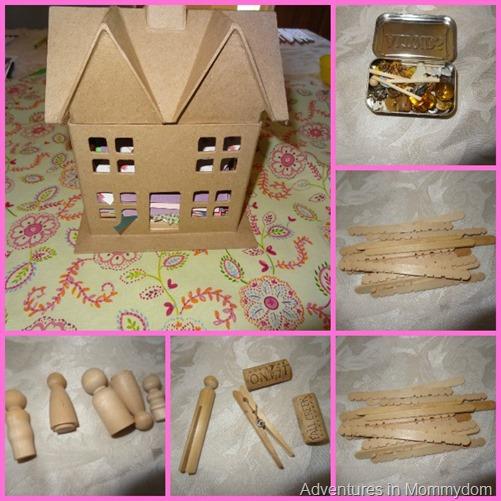 dollhouse kit present. Black Bedroom Furniture Sets. Home Design Ideas
