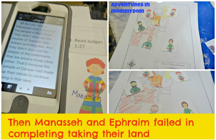 Manasseh and Ephraim take Canaan