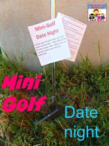 Mommy Son Mini Golf date night