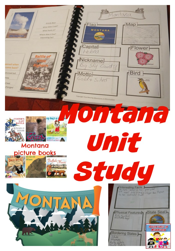 Montana unit study #unitstudy #geographylesson #homeschooling