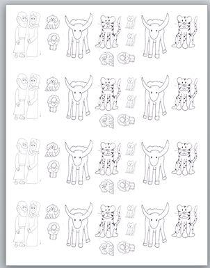 Noah's ark printable figures