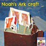 Noah's ark craft using paper boat