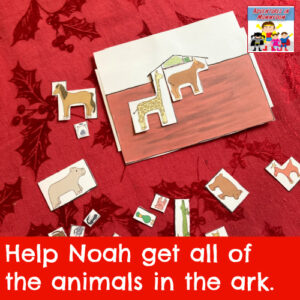 Noah's ark printable puzzle game Genesis Old testament Bible game