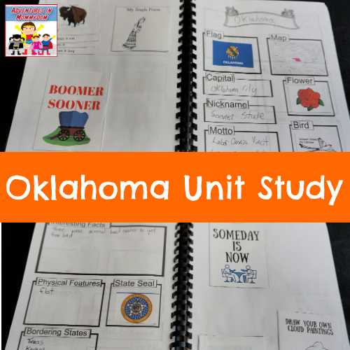 Oklahoma unit study 50 state study geography united states north america