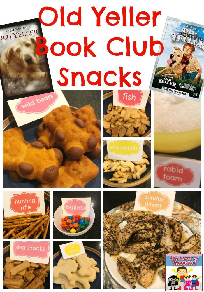 Old Yeller book club snacks #readthebook #bookandmovie #movieschooling