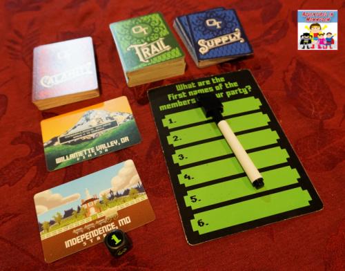 Oregon Trail card game card types