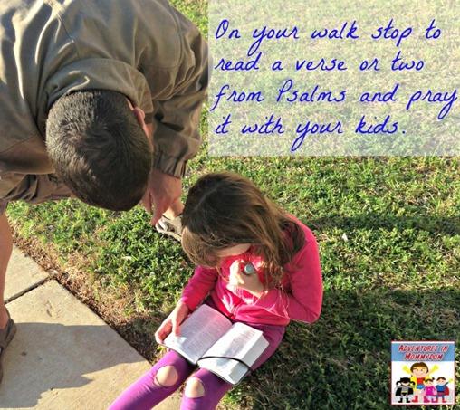 Prayer walk with kids