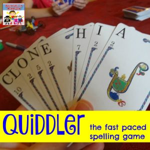 Quiddler fun spelling game