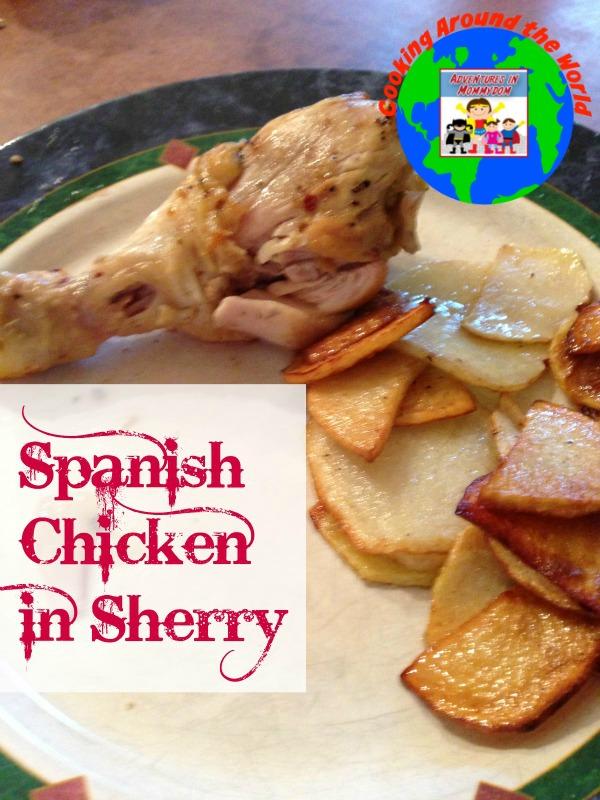 Spanish chicken in Sherry cooking around the world