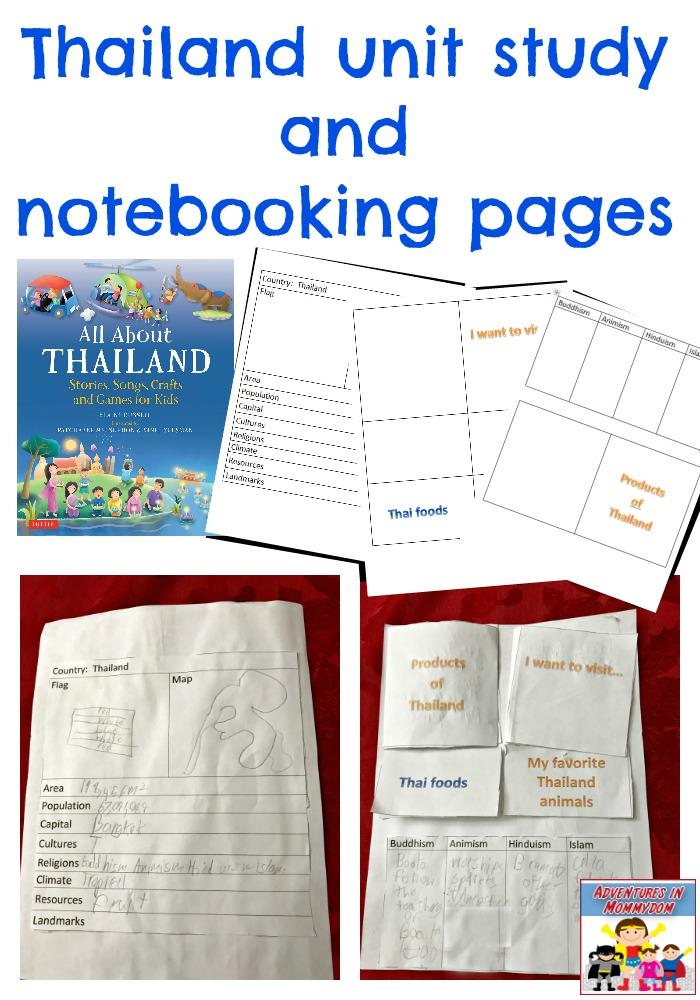 Thailand unit study