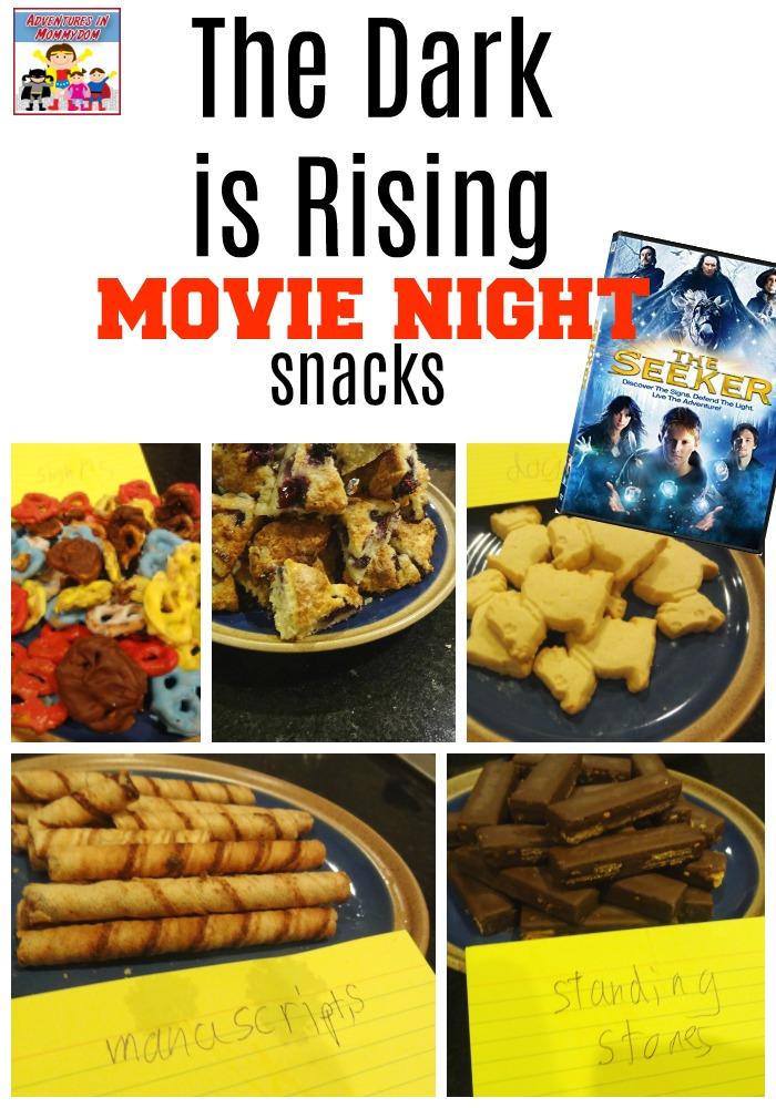 The Dark is Rising movie night snacks