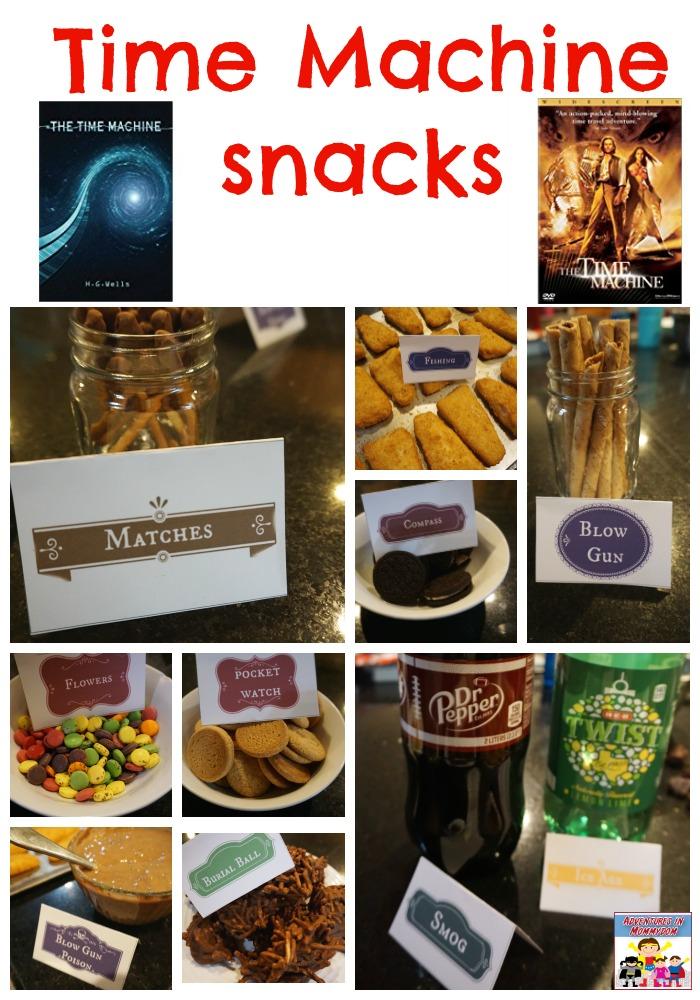 Time Machine movie night snacks