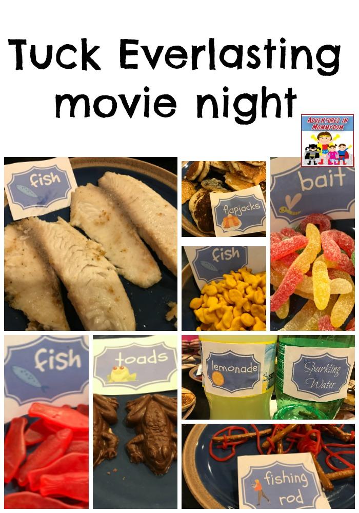 Tuck Everlasting movie night snacks