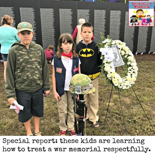 Vietnam War memorial trip