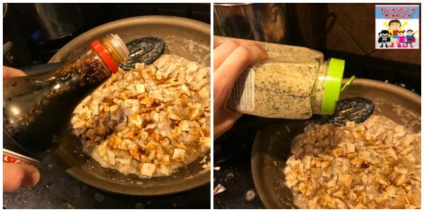 add soy sauce and garlic salt to your cream of mushroom soup turkey casserole