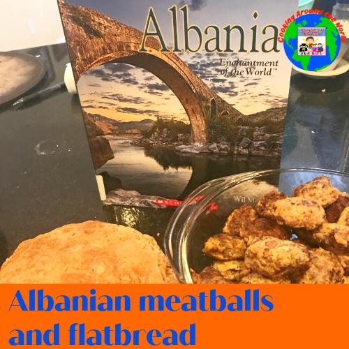 albanian meatballs and flatbread geography Europe main dish recipe