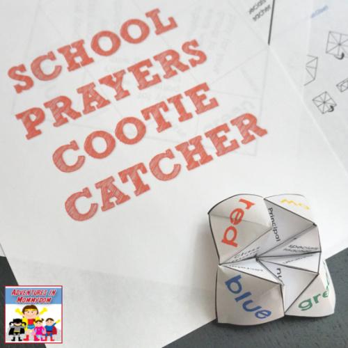 back to school prayers cootie catcher printable