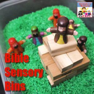 bible sensory bins for homeschool Bible