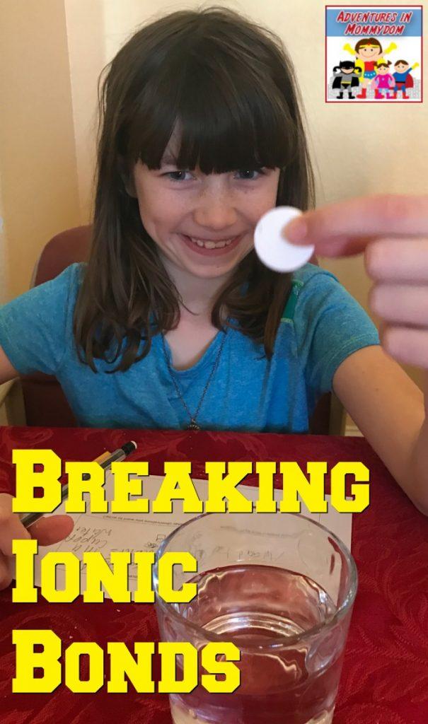 breaking ionic bonds STEM lesson