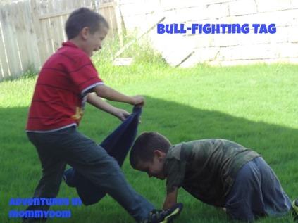 bull fighting tag