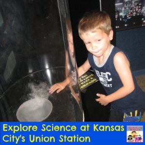 checking out tornado at Kansas City Union Station