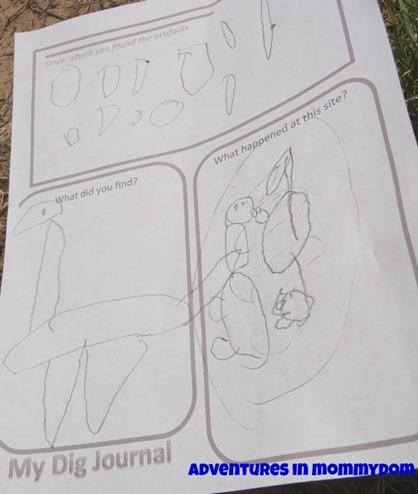 dinosaur dig journal free printable