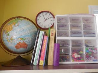 game organization from homeschool room