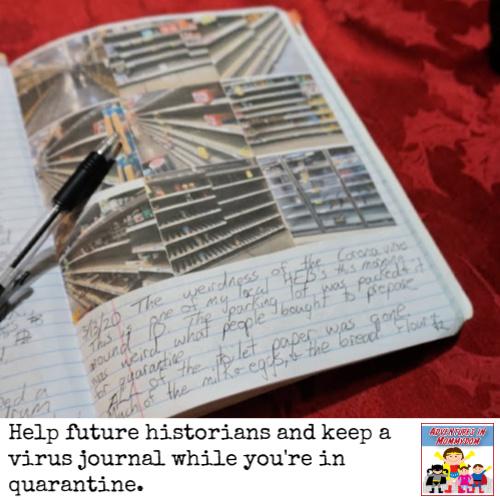 help future historians and keep a virus journal