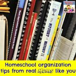 homeschool organization tips