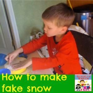 how to make fake snow preschool kinder science