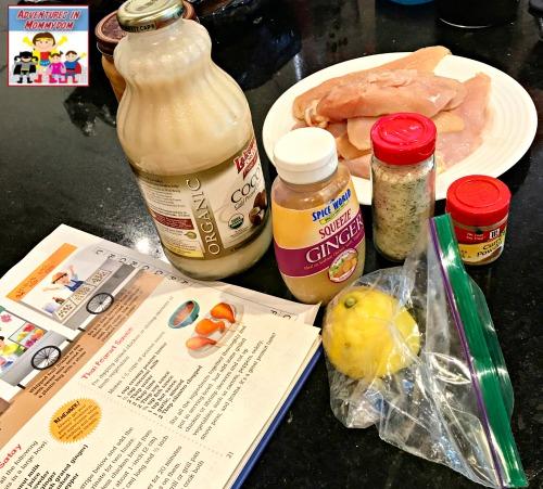 ingredients for Thai Chicken Satay
