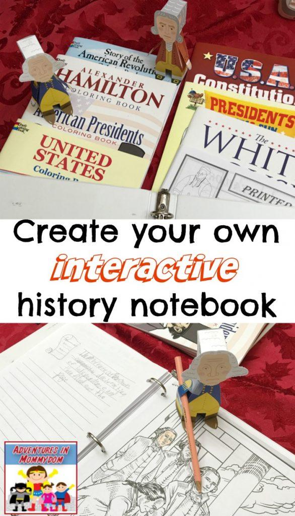 interactive history notebook