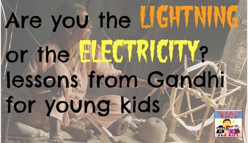 Gandhi lesson for kids