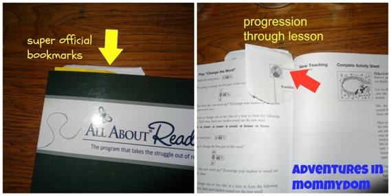 marking progress in book