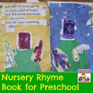 nursery rhyme book for preschool or kindergarten
