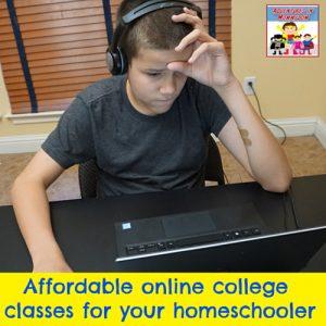 online college class for homeschool