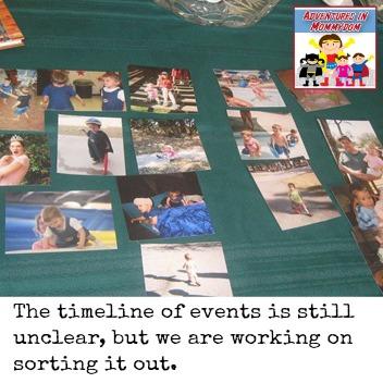 personal timeline lesson preschool