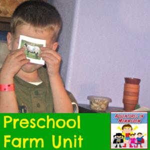 preschool farm unit for homeschool