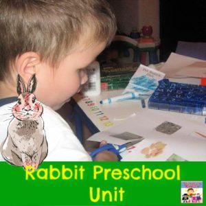rabbit preschool unit awesomeness
